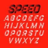 Fonte do estilo da velocidade ilustração stock