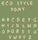 Fonte do estilo de Eco ilustração stock