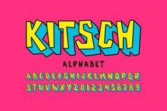 Fonte do estilo de Kitch ilustração stock