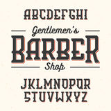 Fonte do estilo do vintage de Gentlemans Barber Shop Imagens de Stock Royalty Free