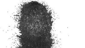Fonte do líquido cinzento como o suco no fundo branco com uso matte alfa gosta do canal alfa versão 4 ilustração stock