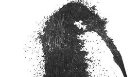 Fonte do líquido cinzento como o suco no fundo branco com uso matte alfa gosta do canal alfa versão 3 ilustração royalty free