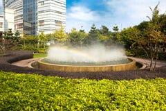 fonte do Multi-jato no jardim Fotos de Stock