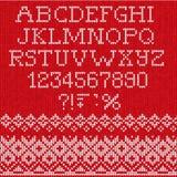 Fonte do Natal: Sem emenda escandinavo do estilo feito malha Foto de Stock Royalty Free