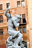 Fonte do Netuno, praça Navona em Roma Itália Imagens de Stock