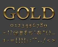 Fonte do ouro Fotos de Stock