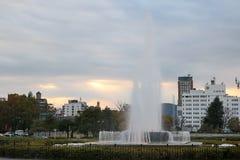Fonte do parque da paz de Hiroshima Fotos de Stock