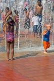 Fonte do parque olímpico centenário Atlanta dos anéis Fotos de Stock Royalty Free
