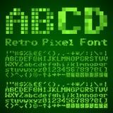 Fonte do pixel Imagem de Stock