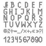 Fonte do pixel Fotografia de Stock