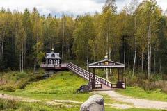 A fonte do Rio Volga na região de Tver Fotos de Stock
