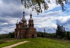 A fonte do Rio Volga na região de Tver fotos de stock royalty free
