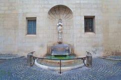 Fonte do ` s de Palazzo Spada no quadrado do ` s de Capo di Ferro, Roma Fotografia de Stock