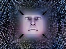 Fonte do ser humano super AI Fotos de Stock