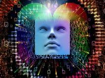 Fonte do ser humano super AI Fotografia de Stock