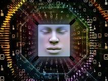 Fonte do ser humano super AI Imagem de Stock Royalty Free