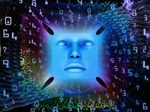 Fonte do ser humano super AI Foto de Stock