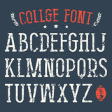 Fonte do Serif no estilo da faculdade ilustração do vetor