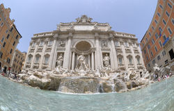 A fonte do Trevi em Roma fotografia de stock royalty free