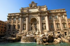 Fonte do Trevi em Roma, Italy Fotos de Stock Royalty Free