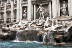 Fonte do Trevi em Roma, Italy imagem de stock
