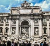 Fonte do Trevi - Roma, Itália Imagem de Stock