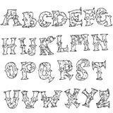 Fonte do uísque do vintage do Grunge Skript handcrafted velho da exposição Rotulação moderna da etiqueta da escova Tipografia do  Fotografia de Stock