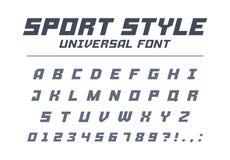 Fonte do universal do estilo do esporte Velocidade rápida, futurista, tecnologia, alfabeto futuro ilustração do vetor