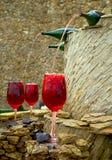 Fonte do vinho Imagens de Stock Royalty Free