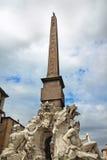 Fonte dos quatro rios, praça Navona, Roma, Itália foto de stock royalty free