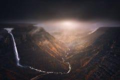 Fonte e cachoeira do rio de Nervion Imagem de Stock Royalty Free