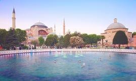 Fonte e Hagia Sophia Imagem de Stock Royalty Free