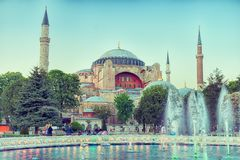 Fonte e Hagia Sophia Imagem de Stock
