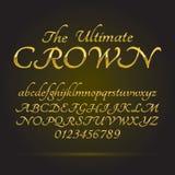 Fonte e números dourados luxuosos Imagem de Stock Royalty Free
