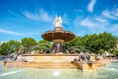 Fonte em Aix-en-Provence Fotos de Stock Royalty Free