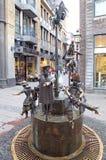 Fonte em Aix-la-Chapelle, Alemanha Imagem de Stock Royalty Free