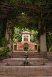 Fonte em Alhambra fotos de stock royalty free