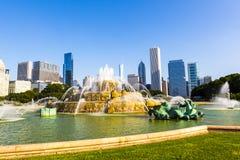 Fonte em Chicago do centro Imagem de Stock
