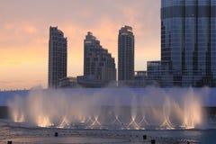 Fonte em Dubai, UAE Fotografia de Stock Royalty Free