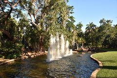 Fonte em George Brown Botanic Gardens imagens de stock royalty free