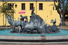 Fonte em Jozefow, Polônia Imagens de Stock Royalty Free