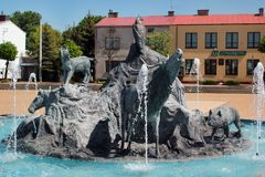 Fonte em Jozefow, Polônia Imagem de Stock