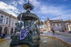 Fonte em Porto imagem de stock royalty free