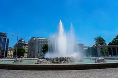 Fonte em Viena, Áustria fotos de stock royalty free