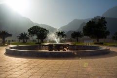 Fonte em Wadi Dayqah Dam Botanical Garden foto de stock royalty free
