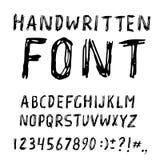 Fonte escrita à mão do alfabeto da tinta Fotografia de Stock Royalty Free