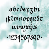 Fonte escrita à mão minúsculo Imagem de Stock Royalty Free