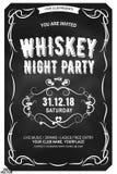 Fonte estesa dei caratteri tipografici con grazie decorati nel retro stile Etichetta del whiskey scozzese royalty illustrazione gratis