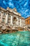 A fonte famosa do Trevi, Roma, Itália. Fotografia de Stock
