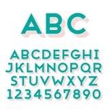 Fonte fatta a mano di caratteri sans serif Fotografie Stock